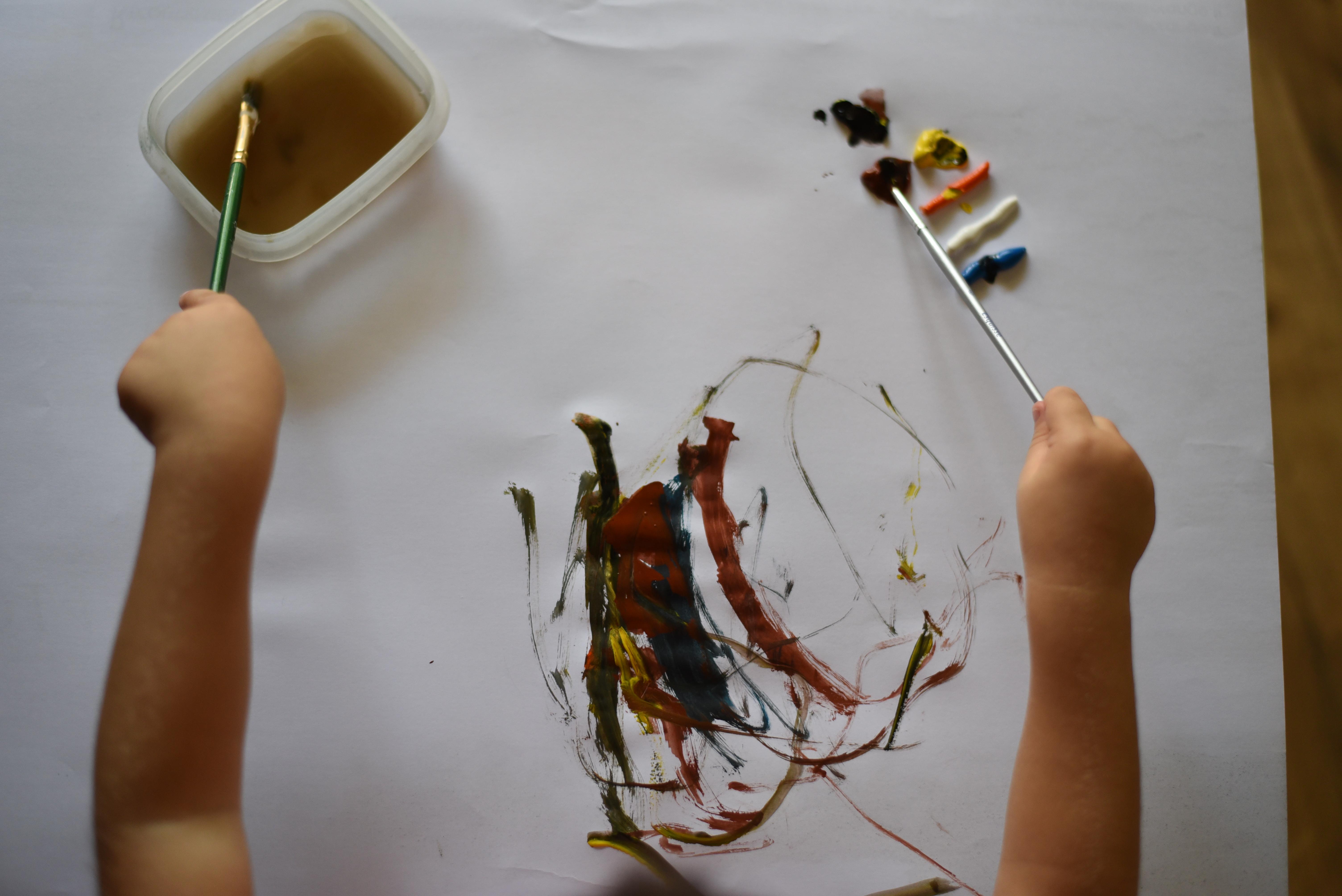 Tablier peinture